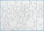 "Puzzle lemn ""I love you"""